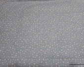 Flannel Fabric - Pastel Dots on Gray - By the yard - 100% Cotton Flannel
