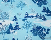 Christmas Flannel Fabric - Icy Winter Wonderland - By the yard - 100% Cotton Flannel