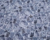 Flannel Fabric - Assorted Postage - By the yard - 100% Cotton Flannel