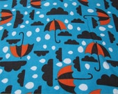 Flannel Fabric - Gloomy Day - By the yard - 100% Cotton Flannel