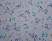 Flannel Fabric - Believe in Magic Dragons and Unicorns - By the yard - 100% Cotton Flannel