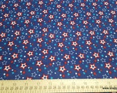 Flannel Fabric - Independence Day Stars - By the yard - 100% Cotton Flannel