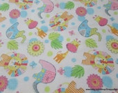 Flannel Fabric - Jungle Animals Colorful - By the yard - 100% Cotton Flannel