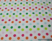 Flannel Fabric - Palm Beach Dot - By the yard - 100% Cotton Flannel