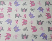Flannel Fabric - Adventure Tossed Girl - By the yard - 100% Cotton Flannel