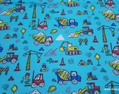 Flannel Fabric - Road Work Vehicles - By the yard - 100% Cotton Flannel