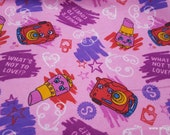 Character Flannel Fabric - Shopkins Whats Not to Love - By the yard - 100% Cotton Flannel