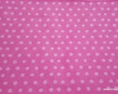 Flannel Fabric - Cloudburst Dot Pink - By the yard - 100% Cotton Flannel