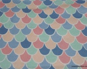 Flannel Fabric - Mermaid Scales Pastel - By the Yard - 100% Cotton Flannel