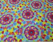 Flannel Fabric - Kaleidescope - By the Yard - 100% Cotton Flannel