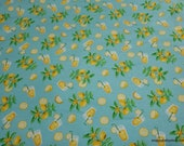 Flannel Fabric - Lemonade - By the yard - 100% Cotton Flannel