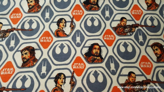 Character Flannel Fabric - Star Wars Rogue One - By the Yard - 100% Cotton Flannel