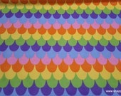 Flannel Fabric - Mermaid Scales Rainbow - By the Yard - 100% Cotton Flannel