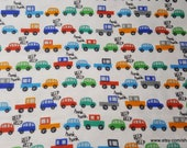 Flannel Fabric - Traffic Jam - By the Yard - 100% Cotton Flannel