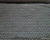 Flannel Fabric - Multi Dot on Black - By the yard - 100% Cotton Flannel