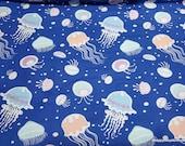 Glow in the Dark Flannel Fabric - Jellyfish Glow in the Dark - By the yard - 100% Cotton Flannel