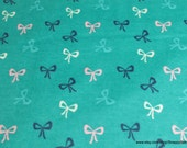 Flannel Fabric - Pretty Bows - By the yard - 100% Cotton Flannel