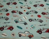 Flannel Fabric - Beep Beep Vintage - By the Yard - 100% Cotton Flannel