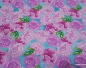Flannel Fabric - Unicorn Roses - By the yard - 100% Cotton Flannel