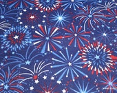 Flannel Fabric - Fireworks Display - By the yard - 100% Cotton Flannel