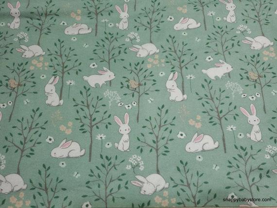 Flannel Fabric - Floppy Garden Green - By the yard - 100% Cotton Flannel