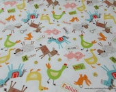 Flannel Fabric - Farmer Multi - By the yard - 100% Cotton Flannel