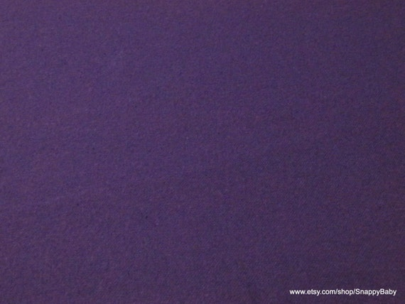 Flannel Fabric - Purple Solid - By the yard - 100% Cotton Flannel
