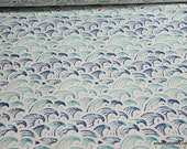 Flannel Fabric - Tiny Waves - By the yard - 100% Cotton Flannel