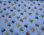 Flannel Fabric - Choo Choo Train - By the yard - 100% Cotton Flannel