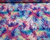 Flannel Fabric - Tie Dye Classic - By the yard - 100% Cotton Flannel