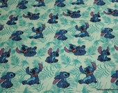 Character Flannel Fabric - Disney Stitch Poses  - By the yard - 100% Cotton Flannel