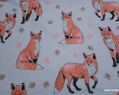 Flannel Fabric - Sophisticated Fox - By the yard - 100% Cotton Flannel
