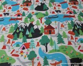 Flannel Fabric - Campsite - By the Yard - 100% Cotton Flannel