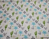 Flannel Fabric - Dino Desert Cactus - By the yard - 100% Cotton Flannel