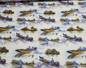 Flannel Fabric - Day on the Lake - By the yard - 100% Cotton Flannel