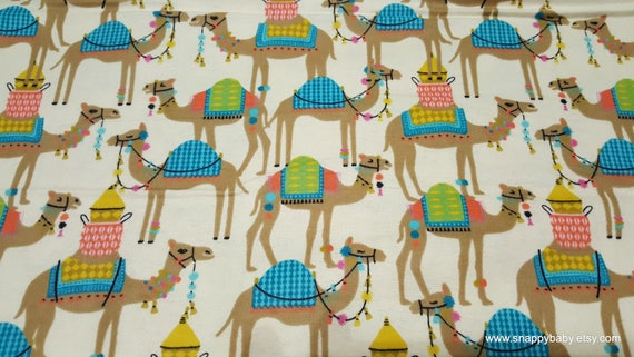 Flannel Fabric - Sassy Camel - By the yard - 100% Cotton Flannel