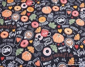 Flannel Fabric - Donut Worry - By the yard - 100% Cotton Flannel