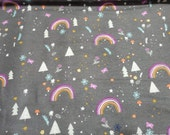 Flannel Fabric - Rainbow Nature - By the yard - 100% Cotton Flannel