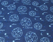 Flannel Fabric - Night Time Sky - By the yard - 100% Cotton Flannel