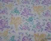 Flannel Fabric - Pastel Vintage Floral - By the yard - 100% Cotton Flannel