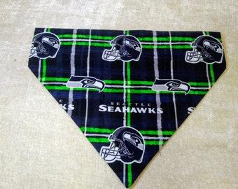 Harness Style Dog Scarf, X-Lg., Teams and Fun Fabric - Seahawks, Mariners, Kraken, Sonics, UW, WSU, Gonzaga & More- Ships FREE!!