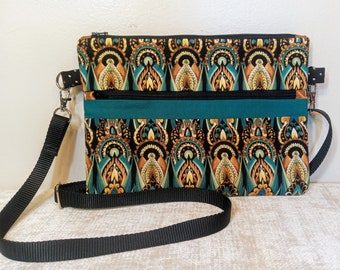 """Stylish Cross Body Adjustable Shoulder Strap Purse-with Multiple Zipper pockets """"Esther"""" style- FREE SHIPPING!"""