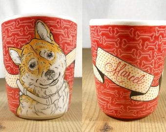 Personalised  Pet Mug  // Made to Order // Hand Drawn // Dog Mug // Cat Mug // Custom Painted Cups