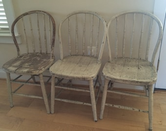 Primitive Chair | Etsy