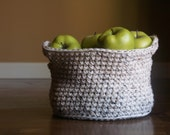 Handmade Crochet Basket - 30 Colors - Home/Decor/Storage/Knit/Yarn/Brown/Oatmeal/Toys/Books/Blankets