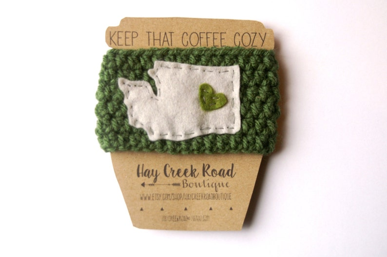 Love Your State Coffee Cozy 30 Colors image 0