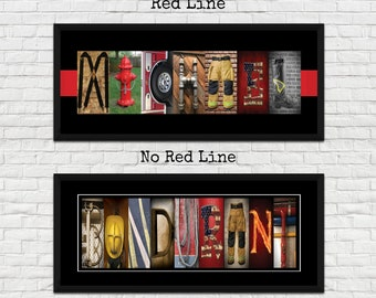 Firefighter Wall Art Etsy
