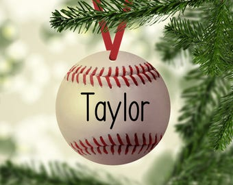 baseball ornament baseball name ornament baseball christmas ornament baseball personalized baseball player gift ornaments