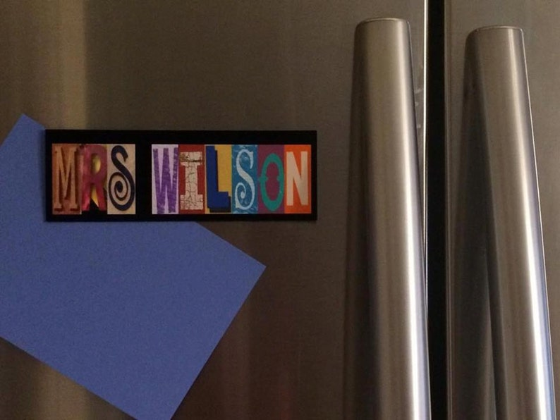 Name Magnet Refrigerator Magnet Locker Magnet Family Name Best Teacher Gift Fridge Magnet Kids Name Magnet