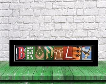 Letter Name Art Baseball Print , Baseball Print,  Baseball Player Gift, Baseball Decor, Baseball Art, Baseball Sign, Senior Gift Baseball